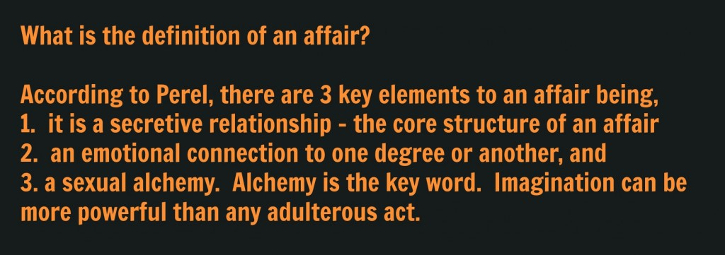 Definition of an affair for blog